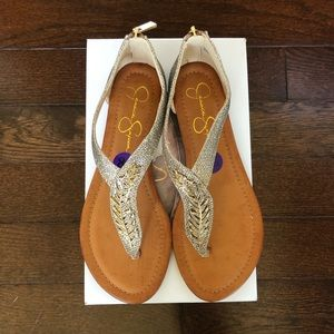 Jessica Simpson Shoes - Jessica Simpson NIB Kalie Feather Sandals